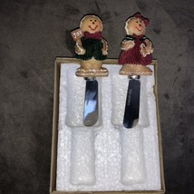 2 Christmas Gingerbread Cheese Spreaders The HomeMaker's Idea Company - $245,15 MXN