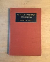 Vintage 1935 Practical Handbook in English - Easley S Jones- Hardcover book
