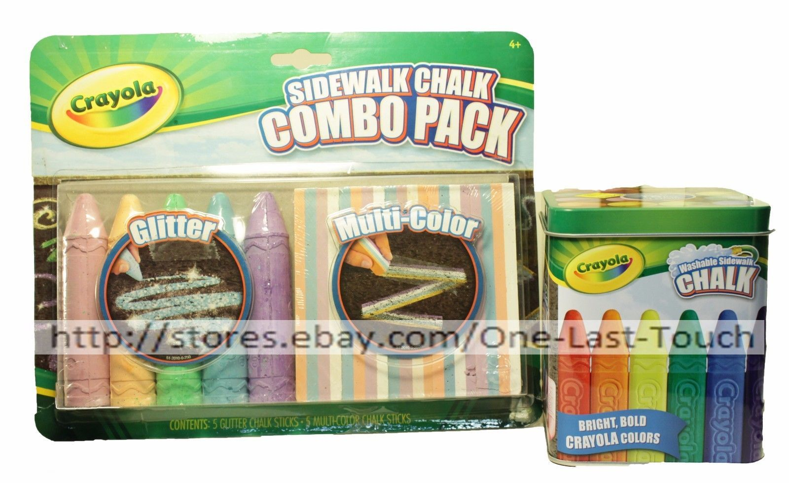 CRAYOLA* Great For Outdoor KIDS Combo Chalk Sticks or Container *YOU CHOOSE* New