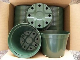 "5"" Azalea Green Plastic Pot Greenhouse Outdoor Pots Durable Nursery 25 Lots - $21.22"