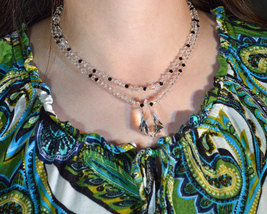 Double Strand Crystal Vibe Necklace image 4