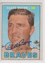 Clete Boyer Signed Autographed 1967 Topps Baseball Card - Milwaukee Braves - $19.99