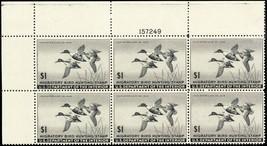 RW12, VF NH $1 Duck Plate Block of Six Stamps Cat $600.00 - Stuart Katz - $350.00