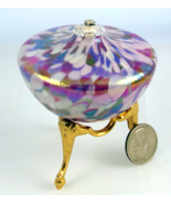 Glass Eye Studio iridescent glass oil lamp with... - $25.00
