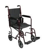 Transport Chair Aluminum Frame Burgundy - $127.20