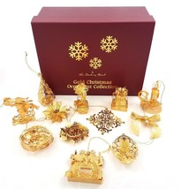 Danbury Mint 23K Gold Christmas Ornament Collection Assorted Set of 12 w... - $123.58