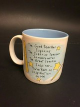 New Russ Berrie Coffee Mug The Great Teacher Inspires You've Been an Ins... - $19.99