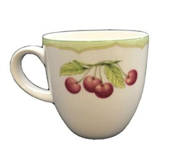 Mikasa Optima Fruit Rapture Super Strong China Coffee Cup Lemons Cherries 7oz - $13.98