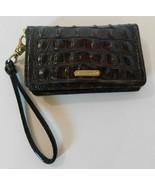 Brahmin Brown Croco Leather Clutch Wristlet Wallet - $72.24