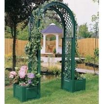 Garden Gate Arch W/ Planter Green Patio Climbing Plant Trellis Decor Pat... - $179.00