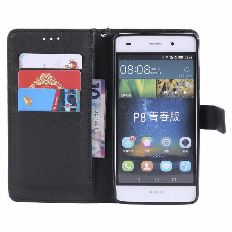 For Huawei P8 Lite Case Huawei P8 Lite P8Lite 2016 Case Cover Wallet PU Leather