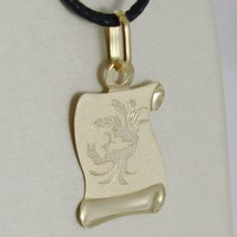 18K YELLOW GOLD ZODIAC SIGN MEDAL, CANCER, PARCHMENT ENGRAVABLE MADE IN ITALY image 2