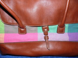 Vintage Liz Claiborne New York Leather and Plaid Purse New Old Stock - $44.55