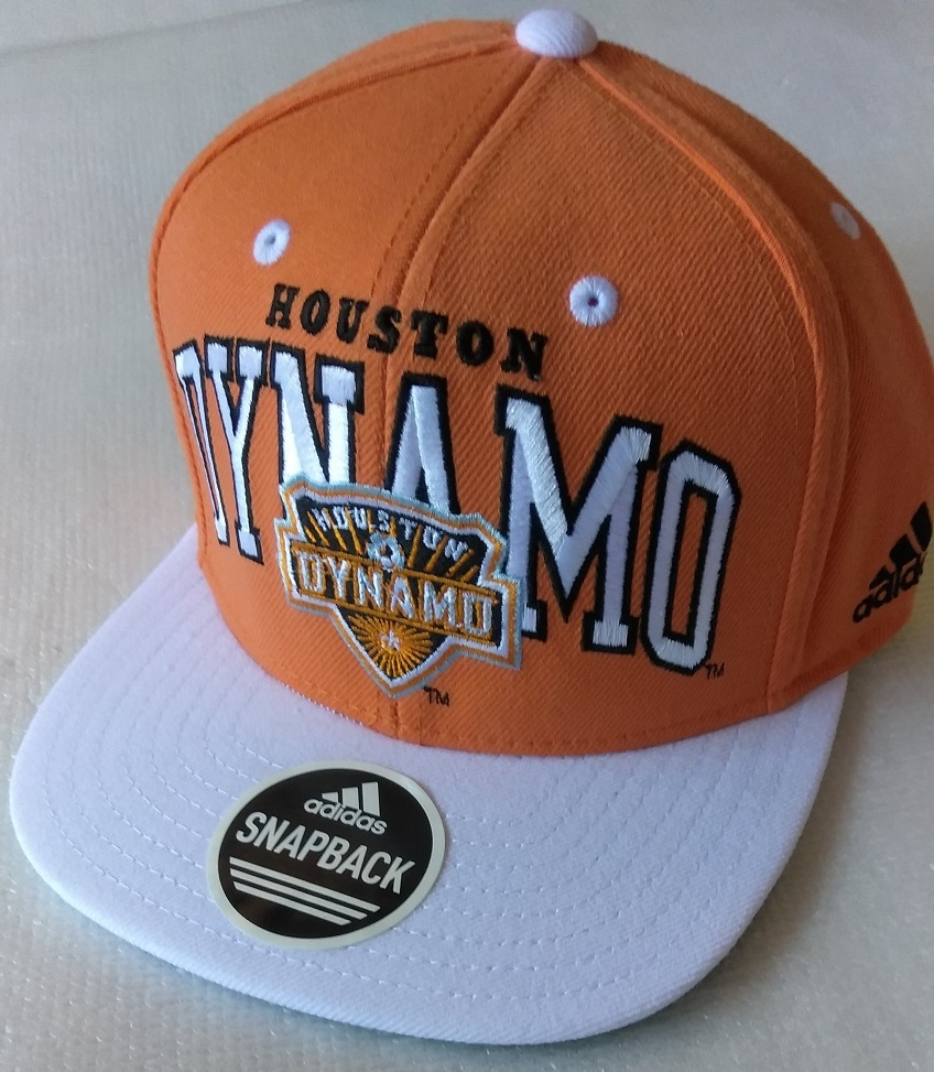 Primary image for  Adidas MLS Houston Dynamo Orange Soccer Hat Cap Snap Back Flat Brim One Size