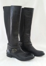 Sperry Top-Sider Cedar Tall Leather Boots Stretch Shaft Black Size 7.5 M... - $58.04
