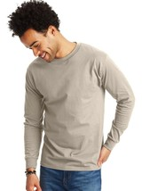 Hanes Adult Beefy-T Long-Sleeve T-Shirt - M - Sand 5187 42 BM - $29.78