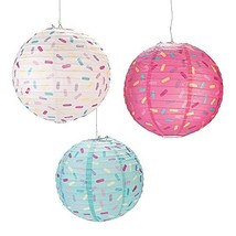 Donut Party Hanging Paper Lanterns - $27.22 CAD