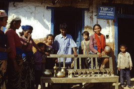 35mm Slide TUP Nepal Local Small Village Life Brass Worker (#0034) - $4.75