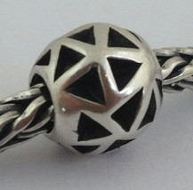 Authentic Trollbeads Sterling Silver *Retired* Triangles Bead Charm 11205 - $33.24