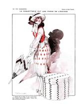 French Pinups: La Vie Parisienne - Girl w/ Umbrella  - Vincent - 1918 - $12.82+