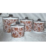 San Ignacio Brown Paisley Enamelware Canisters Set of 4 - $27.09