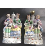 Pair of Vintage Ceramic Colonial Figurines For Lamps Japan, Not Wired - $28.40