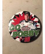 Bobby Labonte #18 Interstate Sponsor Nascar  GO BOBBY  Pin Badge. Rare !! - $14.80