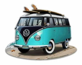 Turquoise Beach VW Bug Bus Plasma Cut Metal Sign - $39.95