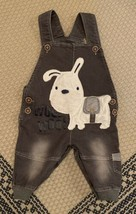 Boy's Dog Denim Overalls Size 3t WOOF WOOF  - $14.01