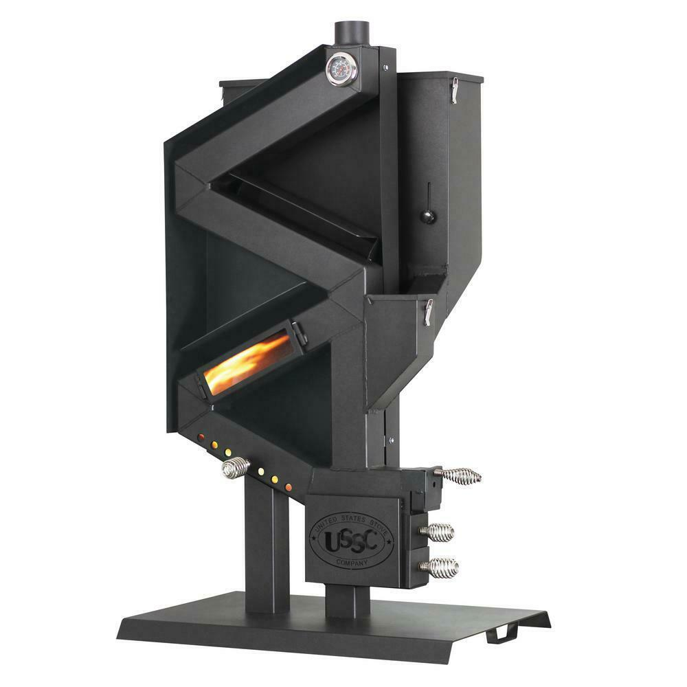 Wiseway PELLET STOVE Non-Electric Gravity Feed GW1949 Off Grid Emergency Heater