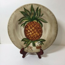 "Dinner Plate Tropical Pineapple Tabletops Unlimited 10.75"" - $19.34"