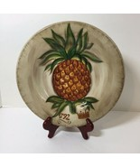 """Dinner Plate Tropical Pineapple Tabletops Unlimited 10.75"""" - $19.34"""