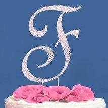 Fully Covered in Crystal Monogram Wedding Cake Topper Letter - Letter F - $12.61