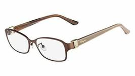 Salvatore Ferragamo Eyeglasses SF2126RA 202 Matte Brown Frames 53MM RX-ABLE - $76.62