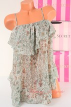 VS VICTORIA'S SECRET Flounce Front Babydoll Chemise Unlined S Small Mult... - $34.99