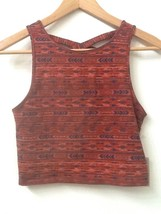 Forever 21 Womens Brown Print Crop Top Crossback Sleeveless Tank Top Size M Nwt - $9.95