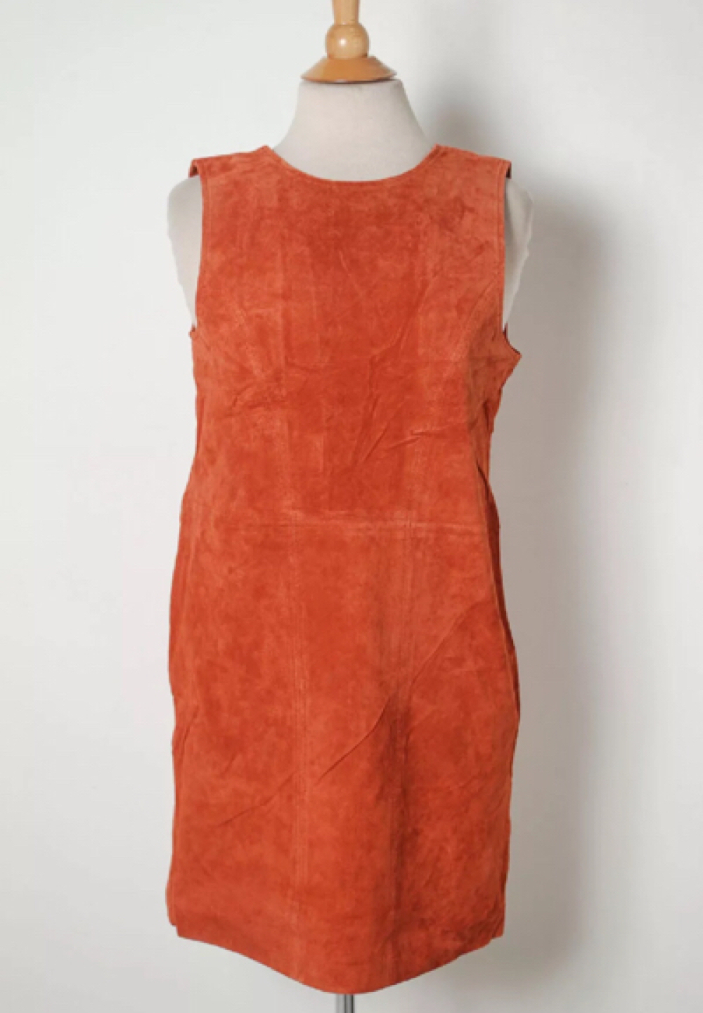 NWT IOP Tobi Rust color Leather dress