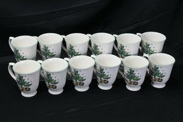 """Nikko Happy Holidays Mugs Large 4.25"""" Lot of 12 - $97.02"""