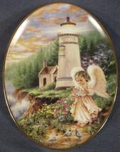 A Little Love Lights The Heart Collector Plate An Angel's Light Donna Ge... - $17.95