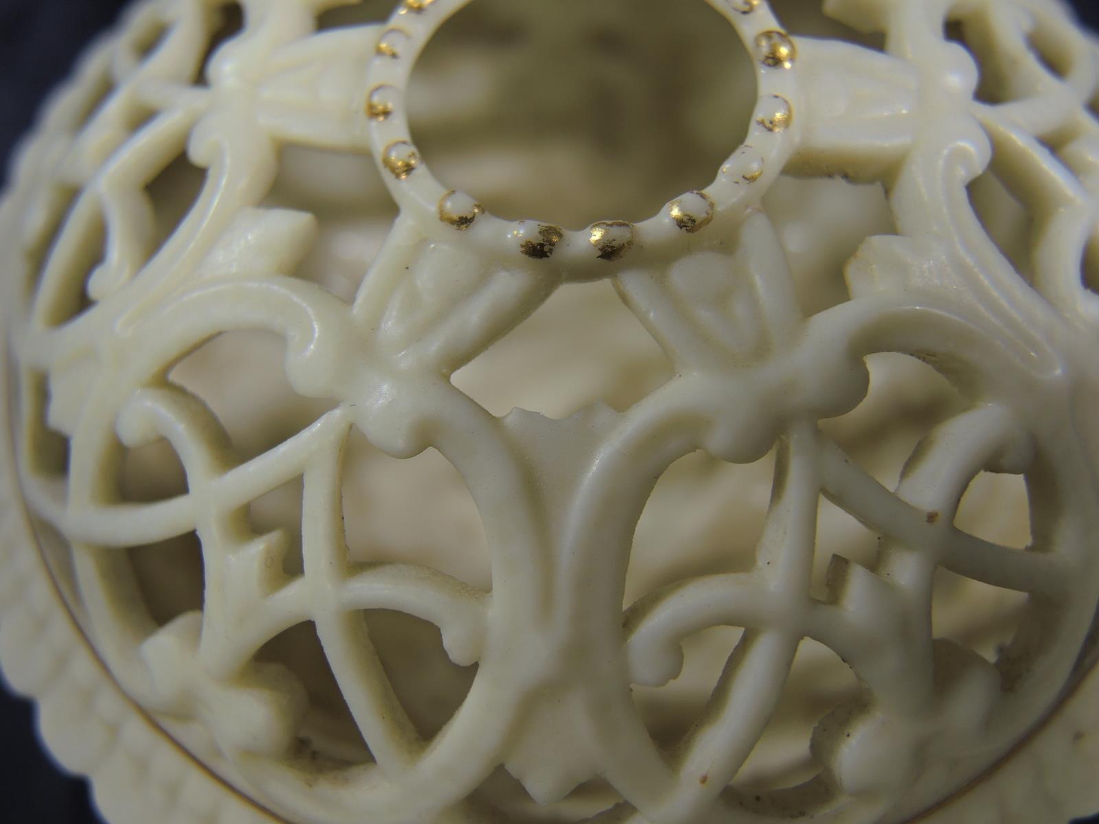 Royal Worcester Blush Ivory Flower Frog * Potpourri