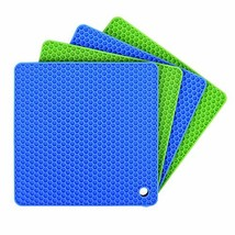 Silicone Pot Holders Set of 4, Ankway Silicone Trivets Multi-Purpose Hot... - $16.26