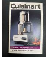 Cuisinart Original Food Processor DLC-10C TX Type 25 Model MANUAL 45 pages - $14.84