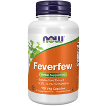 Now Foods Feverfew - 100 Veg Capsules FRESH,MADE IN USA - $29.99