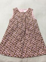 Gymboree Kitty Glamour 5T Pink Tan Leopard Jumper Dress Girls - $9.99