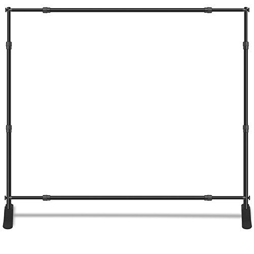 Adjustable Banner Stand 10' X 8', Telescopic Trade Show Display Stand, Step and