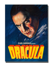 1950's Horror Movie Dracula Monster Poster Design 16x20 Aluminum Wall Art - $59.35