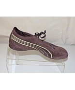 PUMA BROWN SUEDE, WALKING LACE UP FLAT SHOES, WOMEN SIZE 7 - $24.74