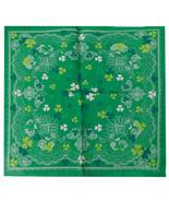 "Wholesale Lot of 3 Paisley Three Leaf Clover Green 22""x22"" 100% Cotton Bandanna - £7.18 GBP"