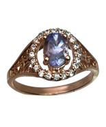 14k Tanzanite & Diamonds Ring, FREE SIZING - $439.00