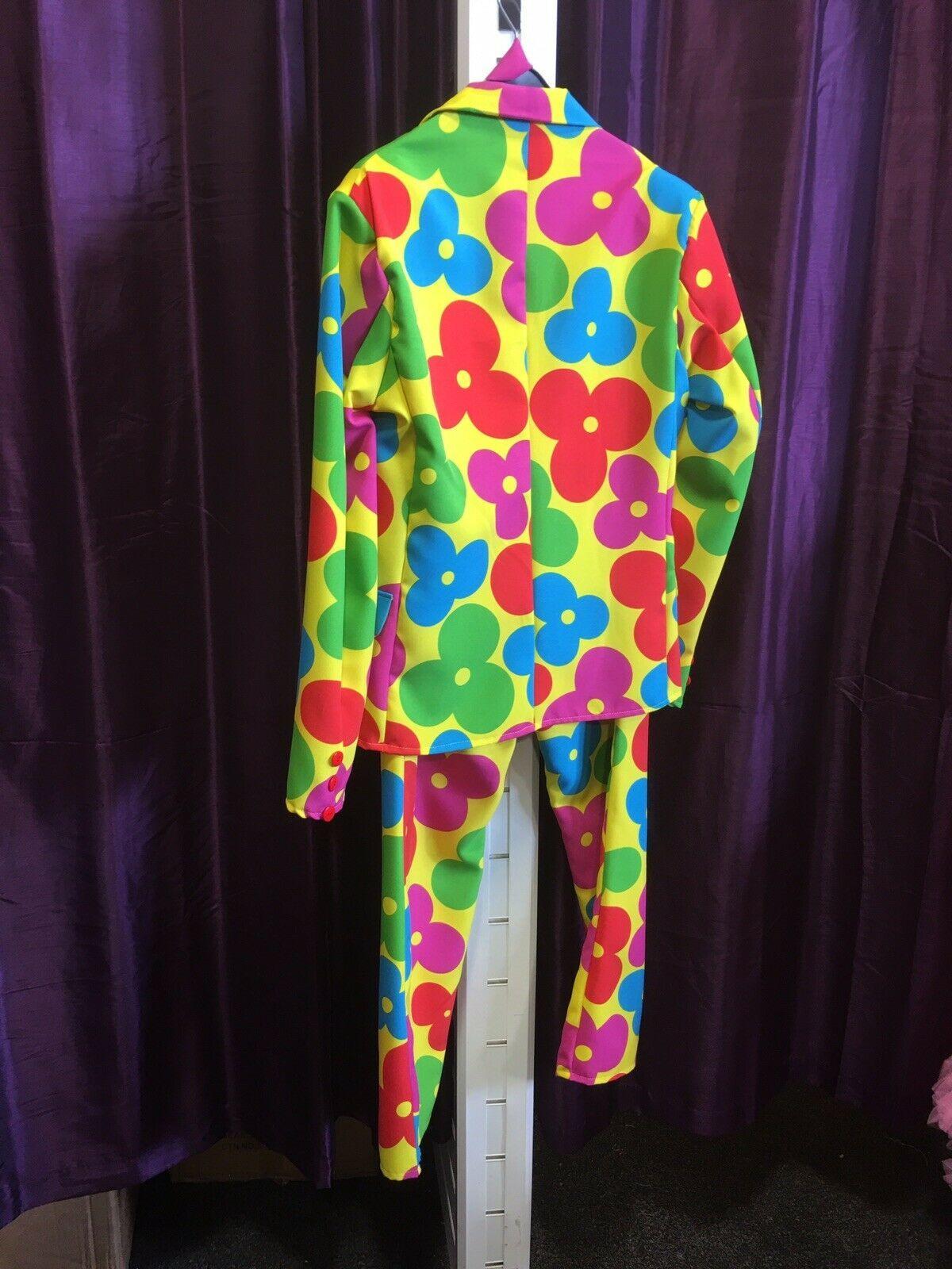 """Clown / Flower Power SUIT , L 44/46"""""""